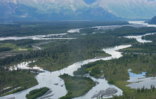 Northeast, up the Knik River